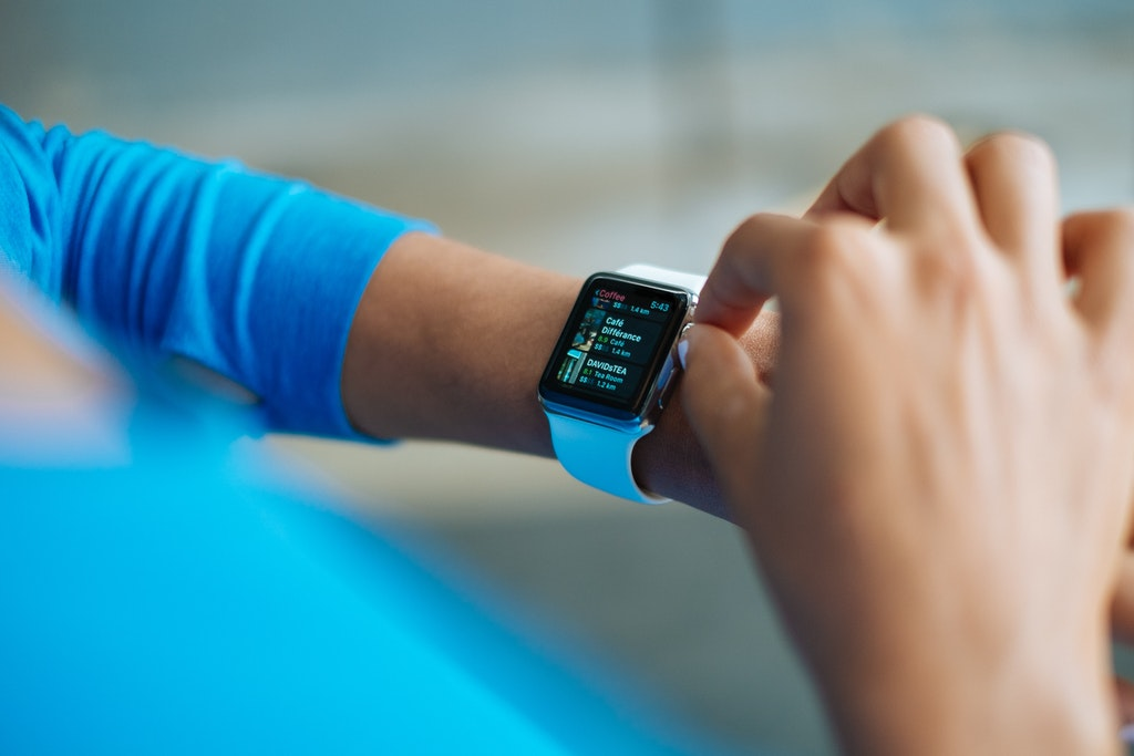 Person Using Smartwatch, Apple Watch, Gadget, Technology.