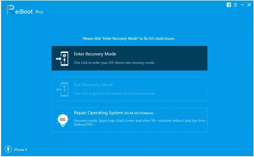 Choose Repair Operating System (Fix All iOS Problems)