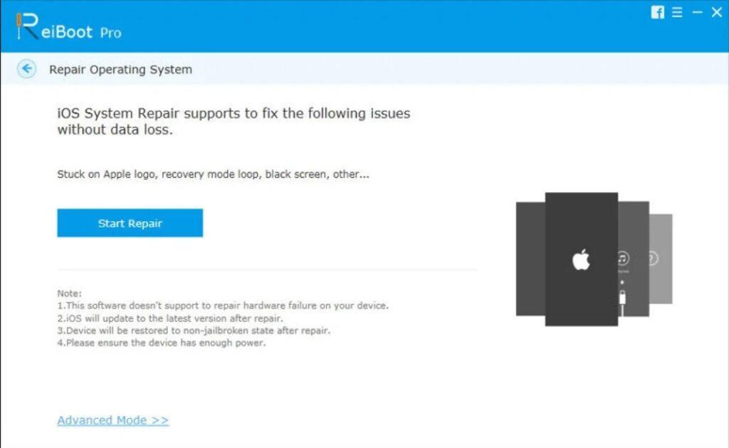click Start Repair