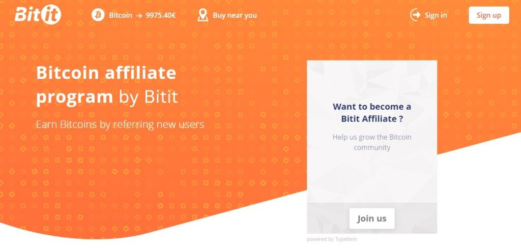 Bitcoin affiliate program by Bitit