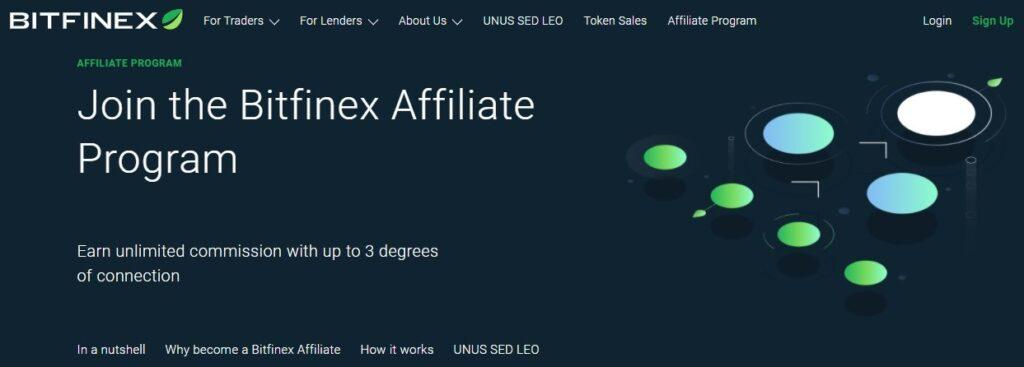 Bitfinex Affiliate Program.
