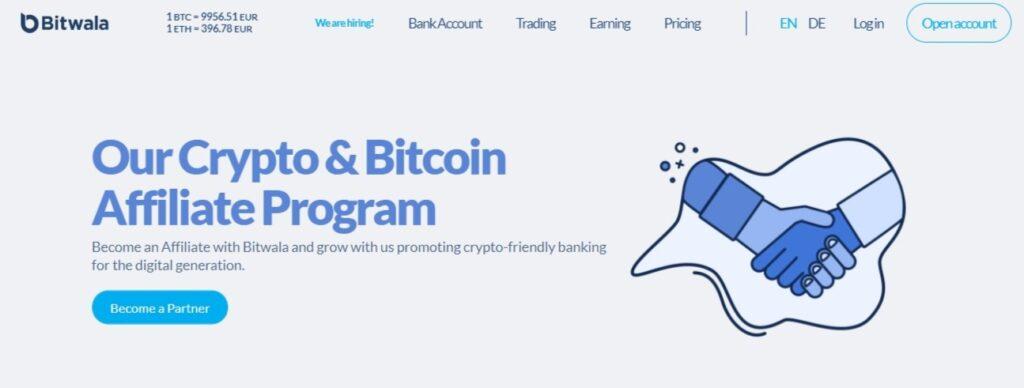 Bitwala Bitcoin Affiliate Program.
