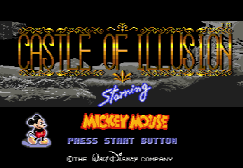 Castle of Illusion starring Mickey Mouse.