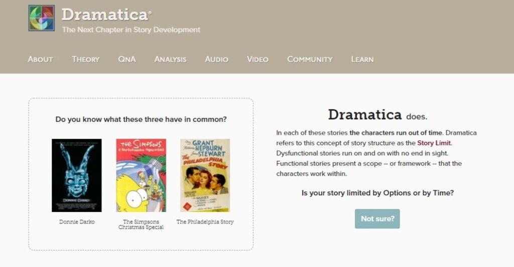 Dramatica Story Development Software.