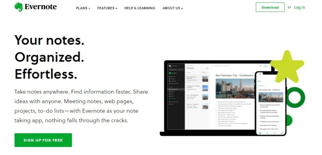 Evernote: Your notes. Organized. Effortless. Evernote for Writers.