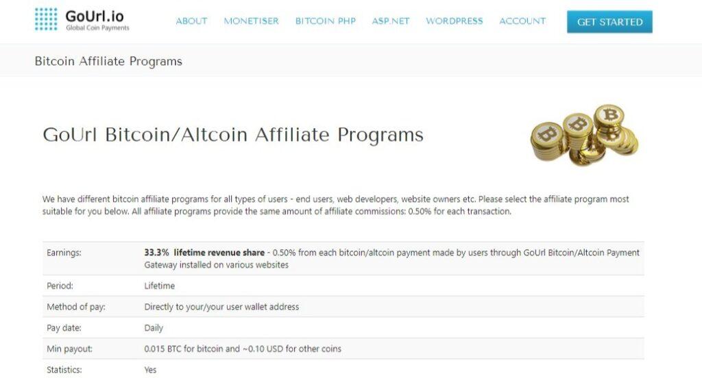 GoUrl Bitcoin Affiliate Programs. Earn Bitcoins Online