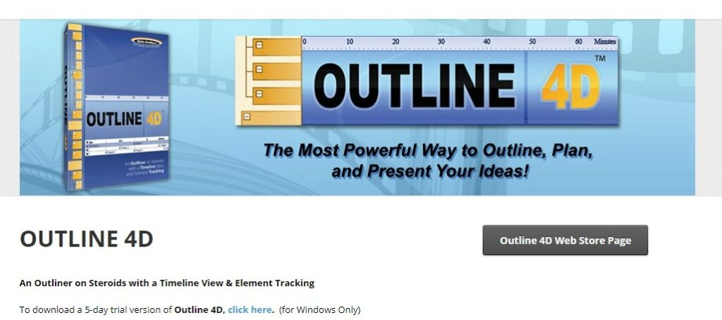 Outline 4D Writing Software - The Most Powerful Way to Outline, Plan, and Present Your Ideas!