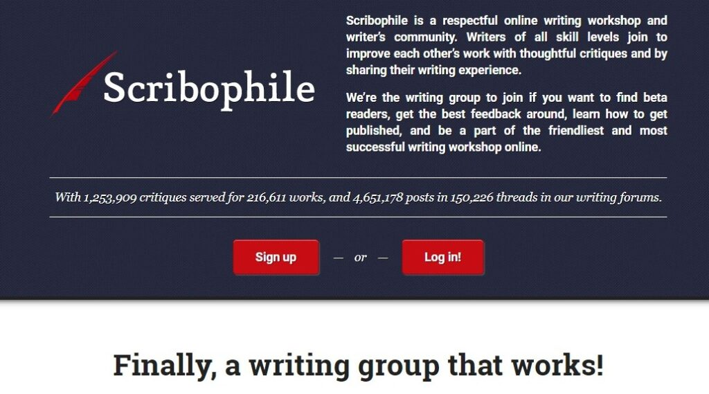 Scribophile Online Writing Community.