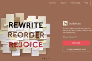 Scrivener Writing Software.
