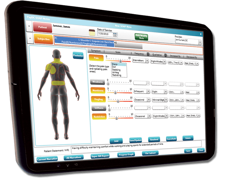 The Best Chiropractic Software, PayDC includes SOAP Notes Documentation, Billing, Scheduling, and more.