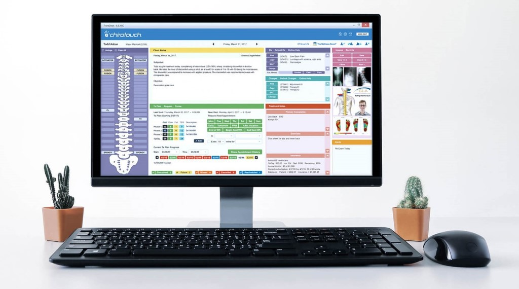 ChiroTouch chiropractic software.