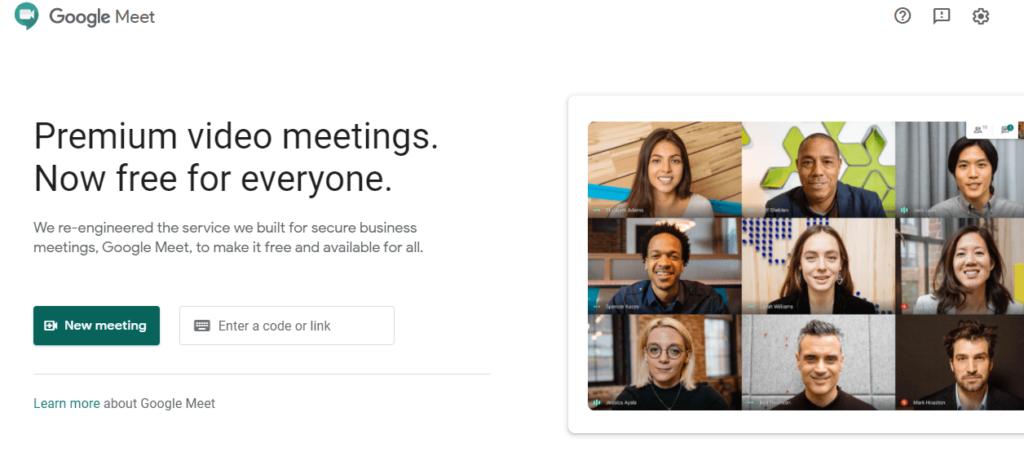 Google Meet: Premium video meetings. Now free for everyone.