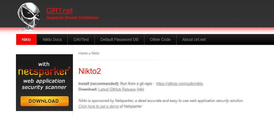 Nikto2 - Web Application Security Scanner