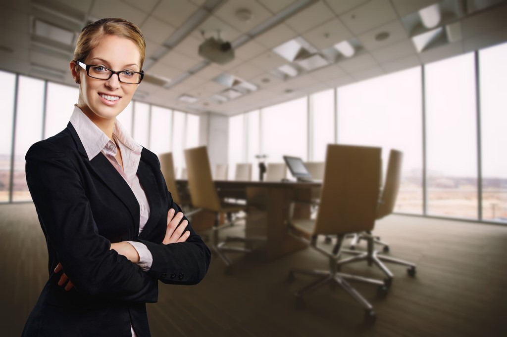 Smiling Business Woman HR.