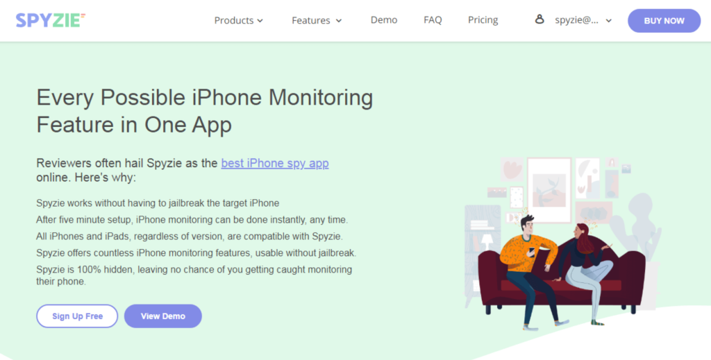 Spyzie - Every Possible iPhone Monitoring Feature in One App.
