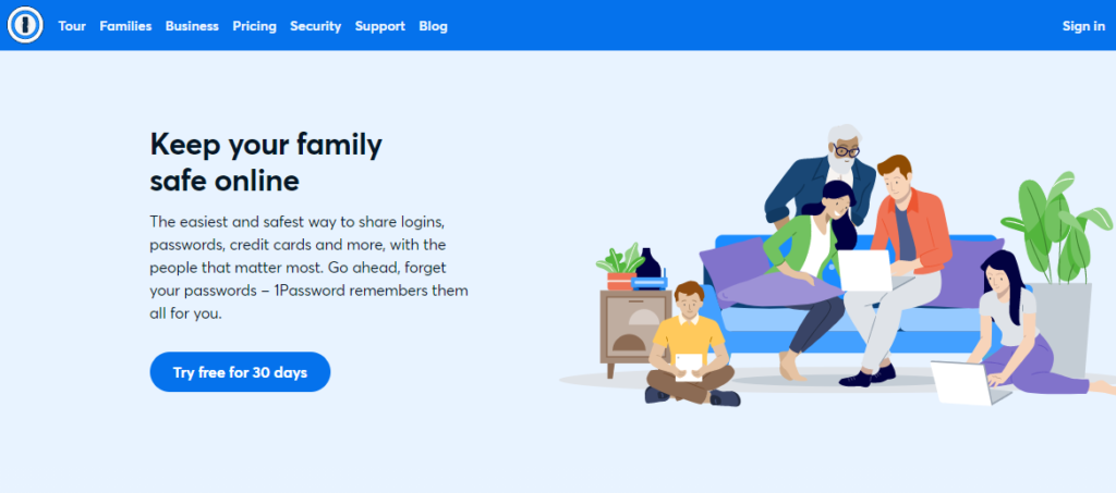 1Password Password Manager: Keep your family safe online. Go ahead, forget your passwords - 1Password remembers them all for you.