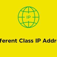 Different Class IP Address