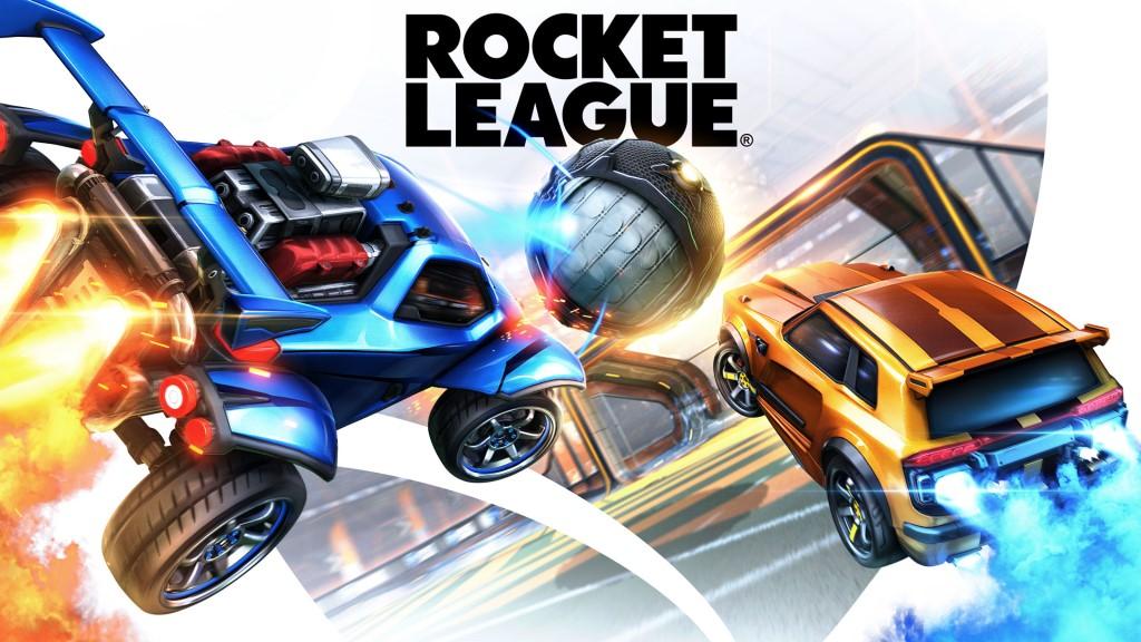 Rocket League car soccer video game.