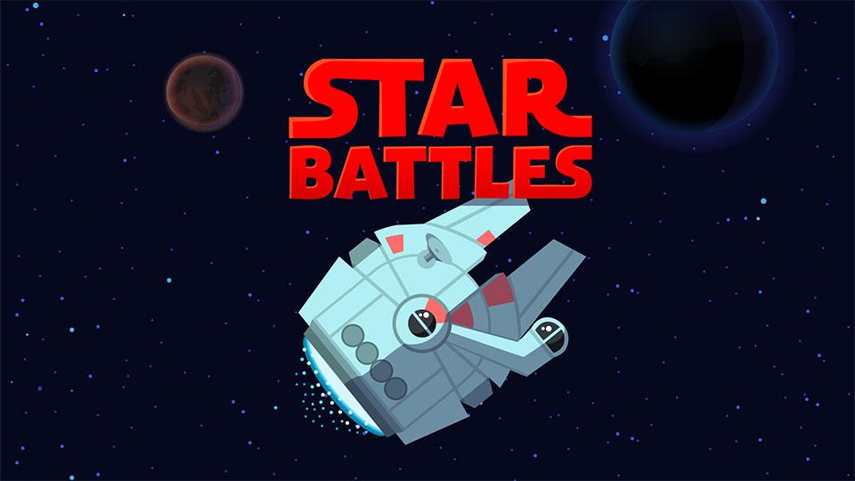 Star Battles arcade game.