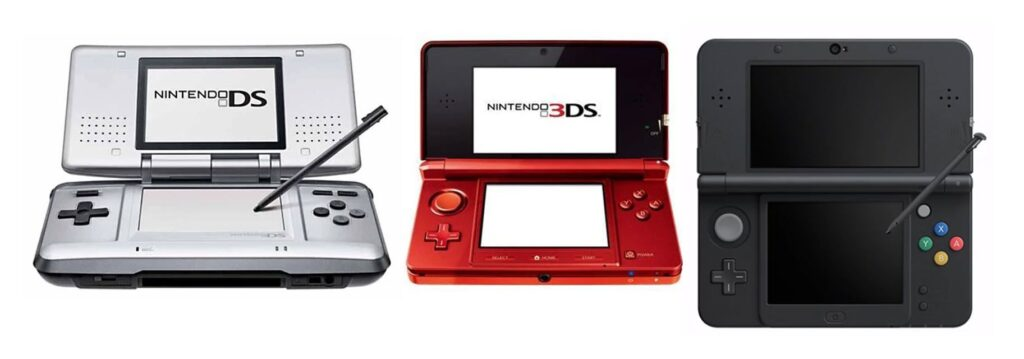 Nintendo DS handheld game console.