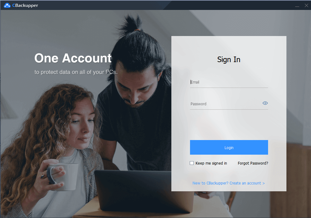 CBackupper Cloud Backup Sign In. One Account to protect data on all of your PCs.