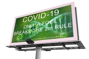 Outdoor LED Display, Social Distancing, Covid-19