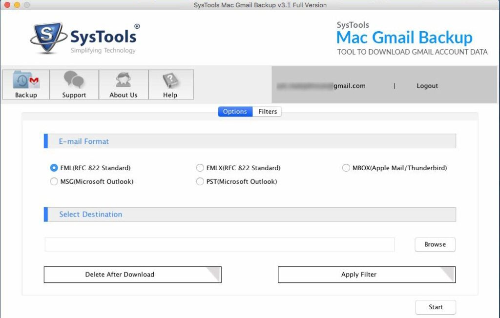 SysTools Mac Gmail Backup: Tool to Download Gmail Account Data.