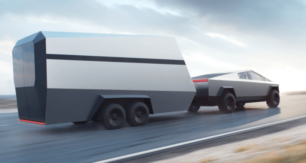 The Tesla Cybertruck Towing.