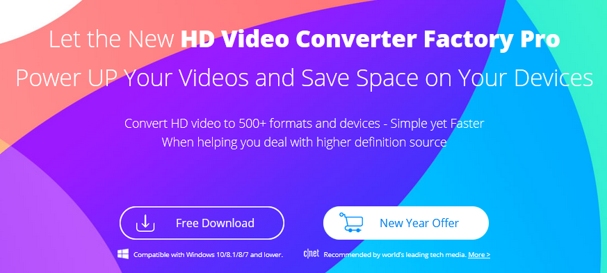 WonderFox HD Video Converter Factory Pro: Convert HD video to 500+ formats and devices. Simple yet Faster when helping you deal with high definition source.