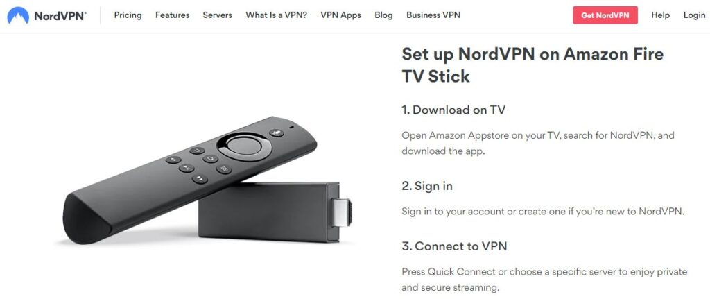 Set up NordVPN on Amazon Fire TV Stick
