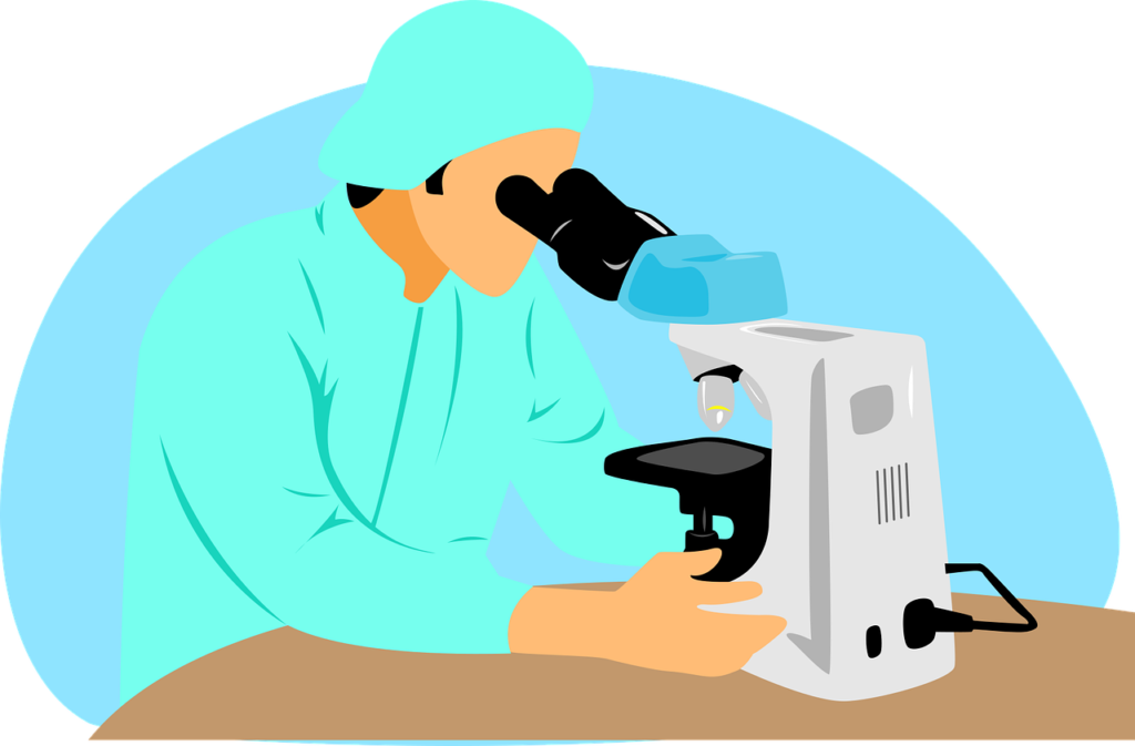 Doctor, Scientist, Microscope, Lab Equipment, Biologist