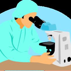 Doctor, Scientist, Microscope, Lab Equipment, Biologist