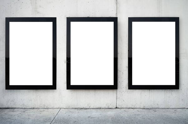 Billboards blank advertising signs.