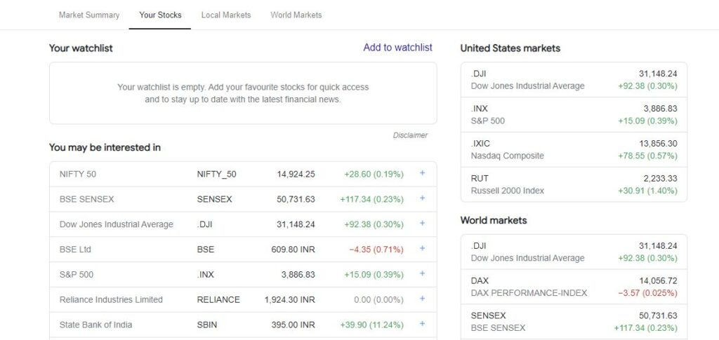 Google Finance - Stock Market Prices, Real-time Quotes and Business News.