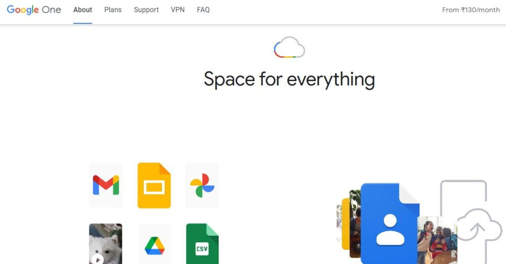 Google One Cloud Storage - Space for everything. Store everything, from videos to photos to music to paperwork
