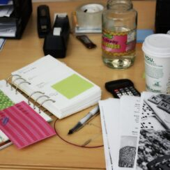 New Job Day One: My Desk, Time Management