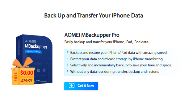 AOMEI MBackupper Pro: Easily backup and transfer your iPhone data