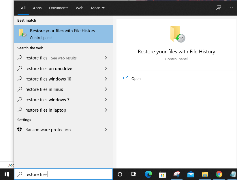 Restore your files with File History.