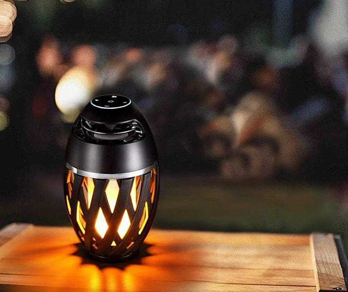 TikiTunes Bluetooth Speaker with Flickering Ambient Light