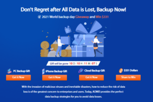2021 World Backup Day Giveaway and Win $331. Avoid Data Losses, Backup Now!