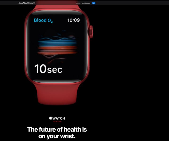 Apple Watch Series 6: The future of health is on your wrist.