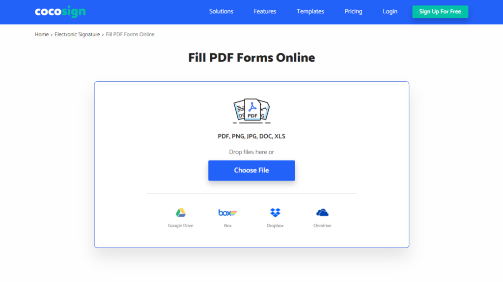 Cocosign Electronic Signature - Fill PDF Forms Online