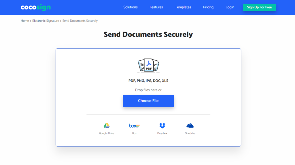 CocoSign Electronic Signature Generator - Send Documents Securely