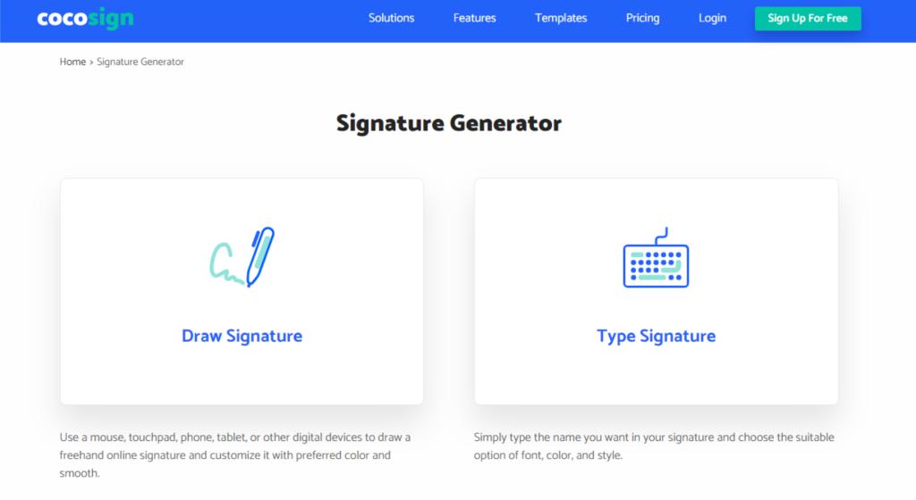 CocoSign Signature Generator
