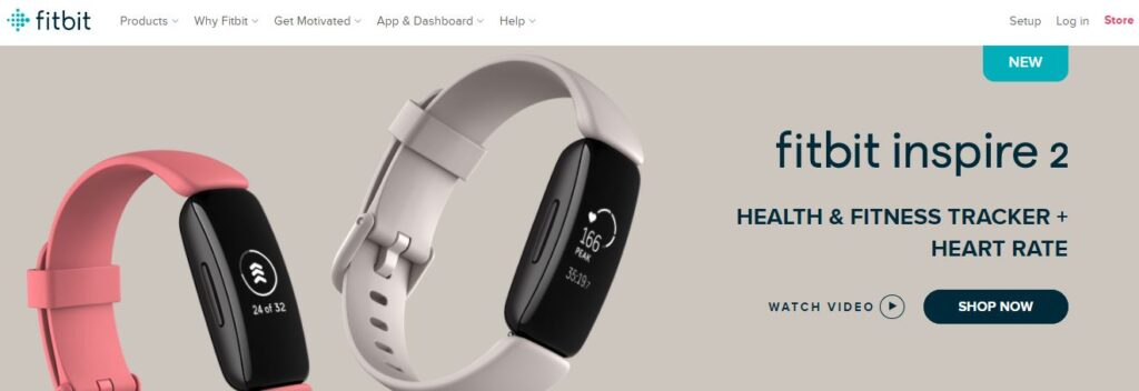 Fitbit inspire 2: Health and Fitness Tracker with Heart Rate Monitor.