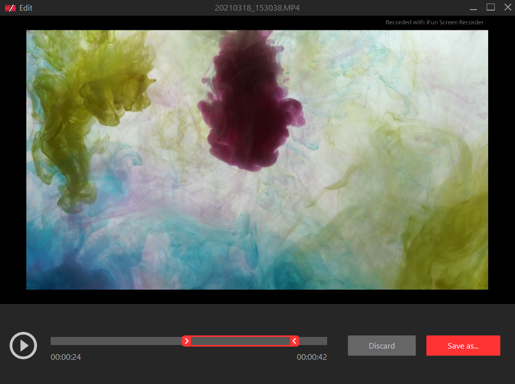 iFun Screen Recorder - Edit recordings