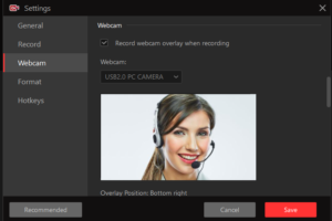 iFun Screen Recorder - Record With Webcam ON