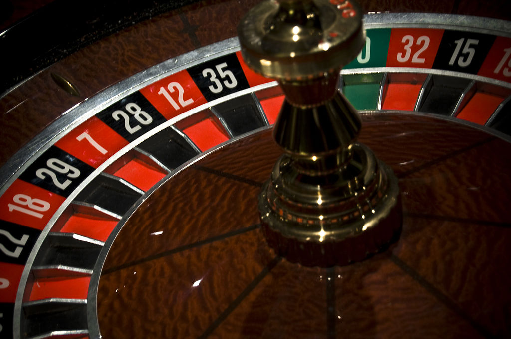 A Roulette table from Silja Galaxy, Roulette casino game.