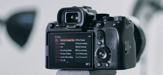 Sony Alpha 7S III DSLR Camera Menu Options.