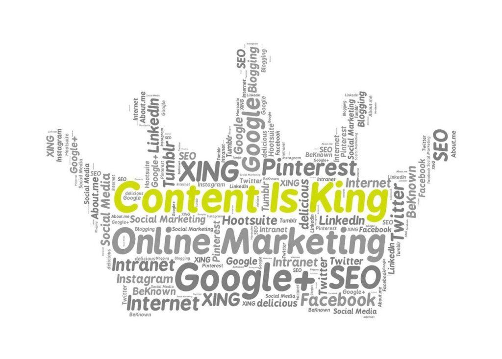 Content Is King, Social Media Marketing, Online Marketing